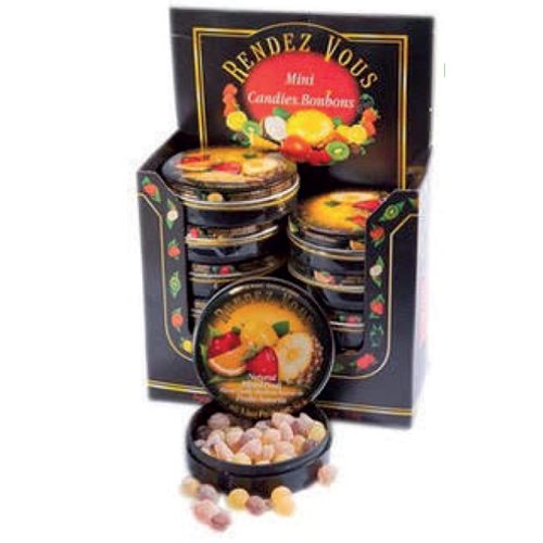 Display mini bonbons fruits assortis 43g x 12